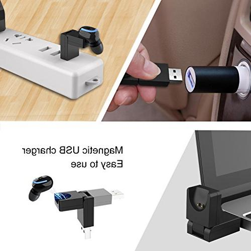 Bluetooth Earbud, Bluetooth Earpiece USB Charger Hours Time and