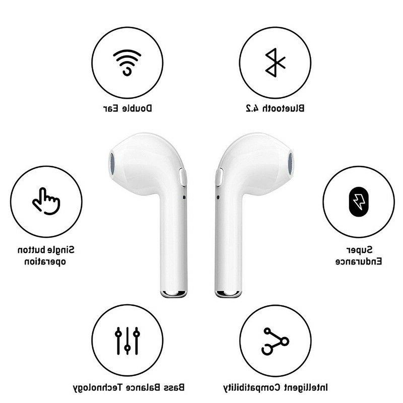 Bluetooth Headset Earphone for S8 iPhone 7