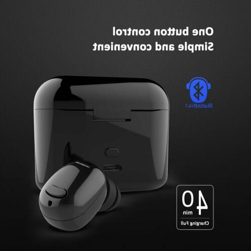 Bluetooth Earbud Wireless Earpiece with 400mAh Charging Case