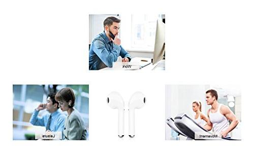 Bluetooth Earbuds, Bluetooth Mini Headphone for iPhone X 8/8 Plus 7/7 Galaxy Android Phones