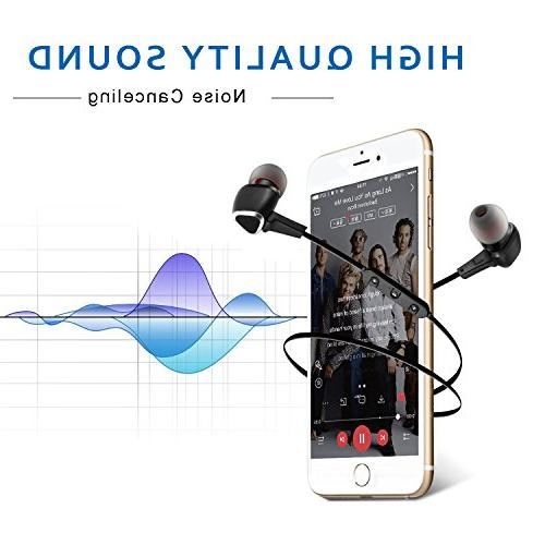 Cornmi Earbuds Sport Bluetooth Bluetooth Wireless Headset HD Earphones CVC Built-in Mic,