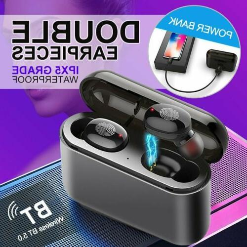 NEW Black pods Style Bluetooth 5.0 Earbuds Wireless Headphon