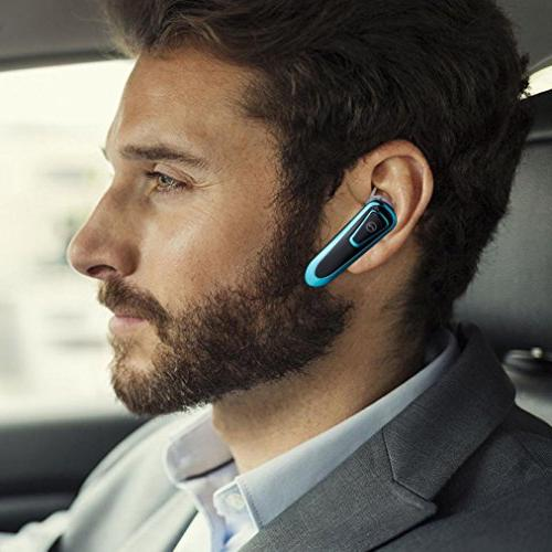 BilmiX Bluetooth Earpiece for Safety Drive Office Business, Car Handsfree, Long Headphones with Microphone Taxi