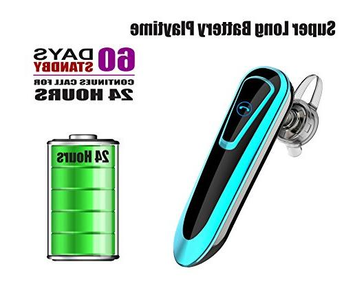 BilmiX Bluetooth for Safety Drive Office Business, Car Handsfree, Long Playtime Headphones with Taxi Uber