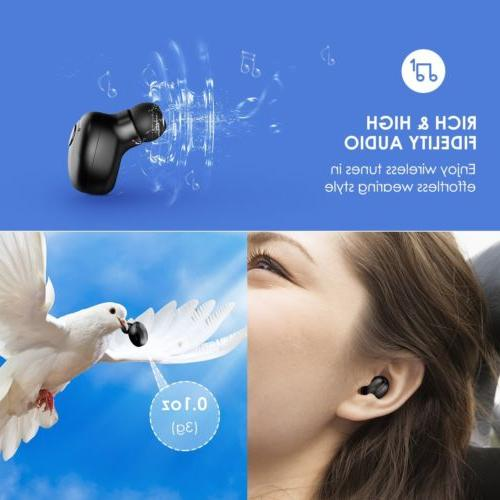 Mpow Headphone Wireless Mini Invisible Earpiece Earbud