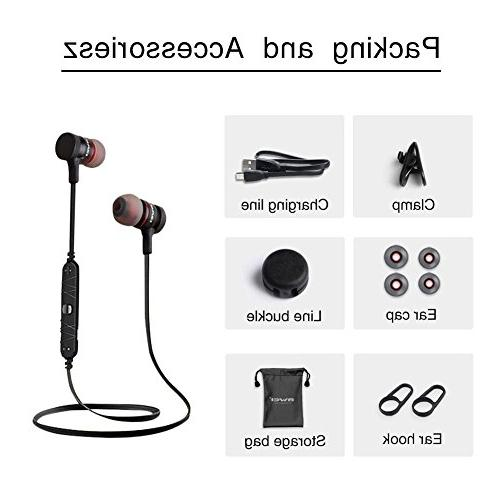 Bluetooth Earphones, Wireless with Microphone Noise Richer Bass headsets, Comfy Pairing