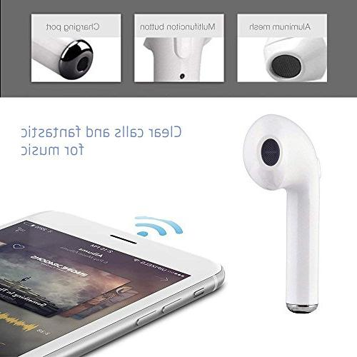 Bluetooth Earbuds Stereo hands-free Sport Headsets Charging iphone 8/8 Samsung S9, Plus for