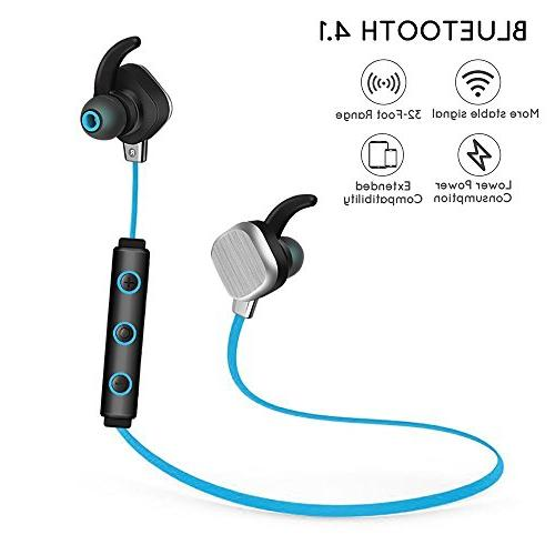 KOBWA Headphones, Magnetic Wireless Sound Earbuds & Sweatproof CVC Noise NFC for & Android