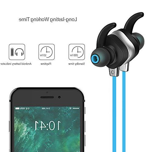 KOBWA Magnetic Sound In-Ear & Earphones, CVC Noise NFC Headset for &
