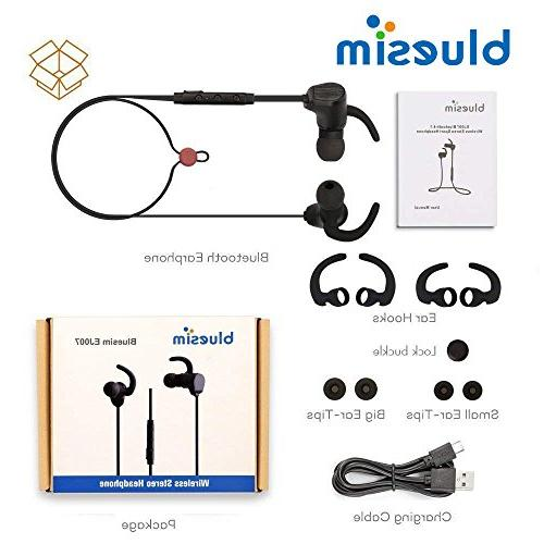 Bluesim Bluetooth Microphone Bluetooth for Super Magnetic Neckband Noise Cancelling