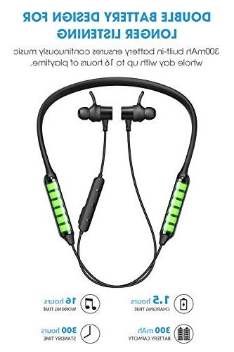 Dudios Bluetooth Headphones Earbuds IPX5 Magnetic Wireless