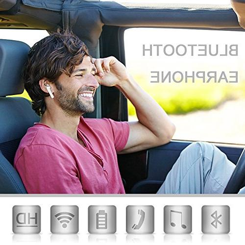 Bluetooth Bluetooth Headset with Mic, Bluetooth Earbuds Charger