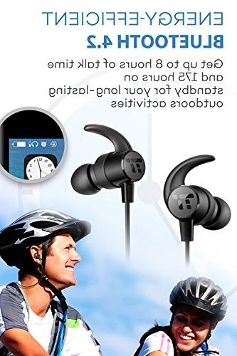 Bluetooth TaoTronics Sweatproof Wireless Sports 8 Earbuds