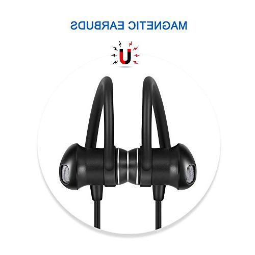 Bluetooth Headphones TaoTronics Wireless Headset Earphones 8 Earbuds