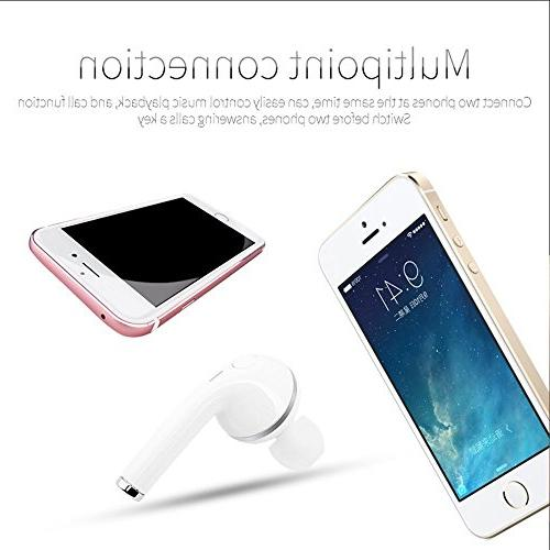 elegantstunning Bluetooth Wireless Handsfree Earpiece Noise Mini Invisible iPhone Android,for Driving