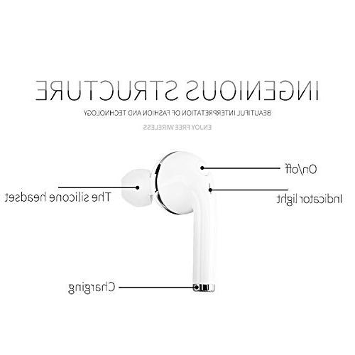 elegantstunning Bluetooth Headphones V4.1, Wireless Noise Invisible Compatible for iPhone Driving