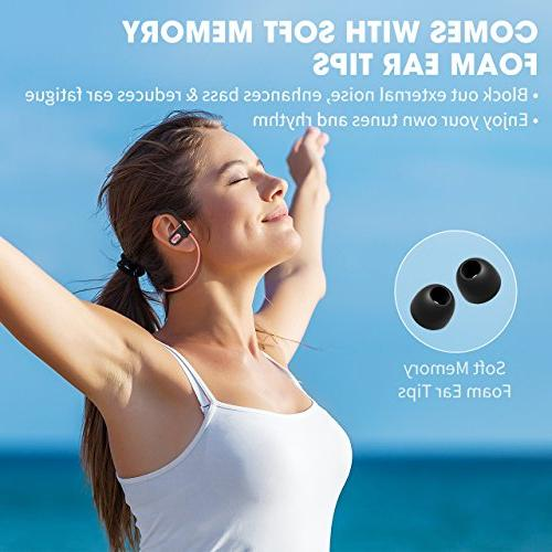 Mpow Bluetooth Headphones Waterproof Wireless Earbuds Sport, Richer Stereo Earphones Case, 7-9 Noise Cancelling