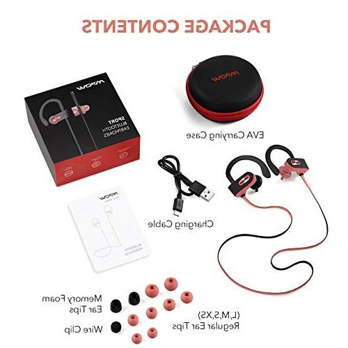 Mpow Flame Headphones Sport, Richer Bass Stereo in-Ear Case, Noise Headsets