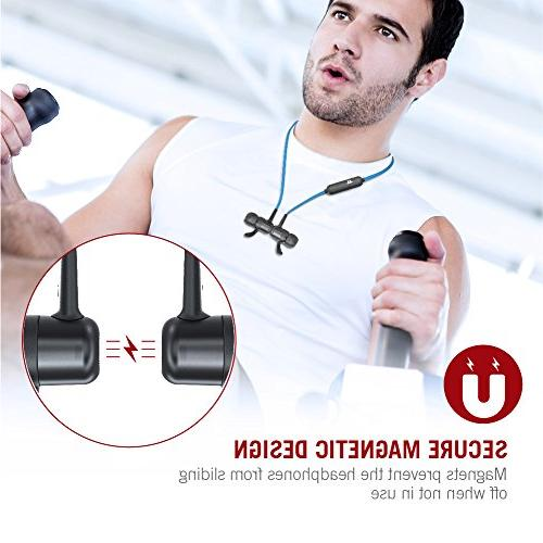 TaoTronics Wireless Earbuds Sport Hours Magnetic &