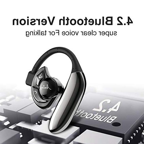 Aminy with Android Time V4.2 Wireless Earphones with Cell Phone Cancelling