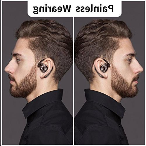 Aminy Headset Compatible with Android Time V4.2 Car Wireless Earphones with Phone Noise Cancelling