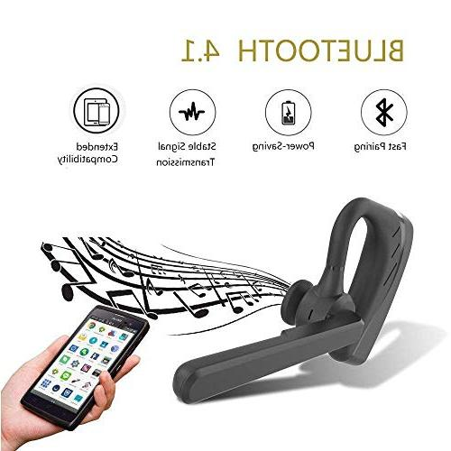 Bluetooth V4.1 Ultralight Business Earphone with Business/Office/Driving-Black