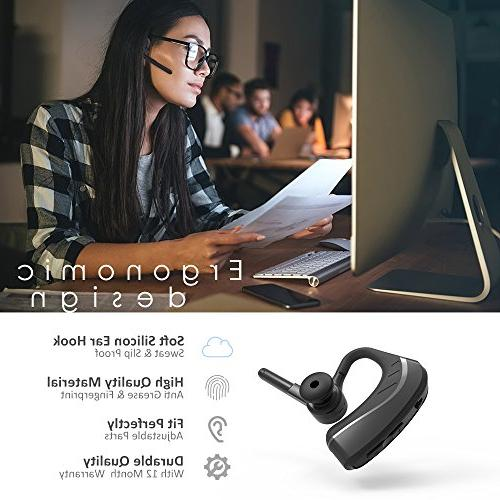 Bluetooth Headset Wireless Headphones v4.1 for w/Mic Cancelling 9 Hrs