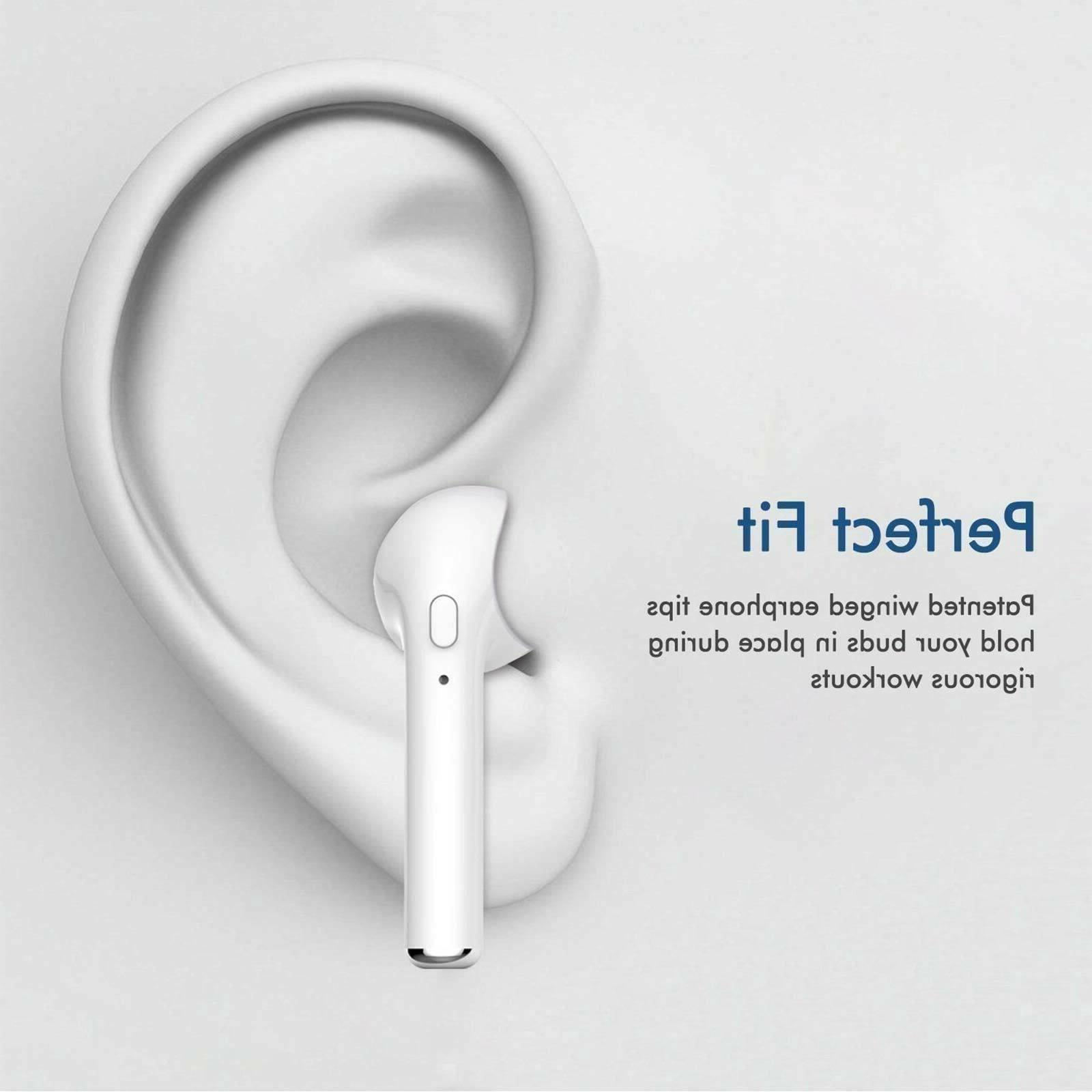 Bluetooth Wireless Earbud Airpods style Charging Case