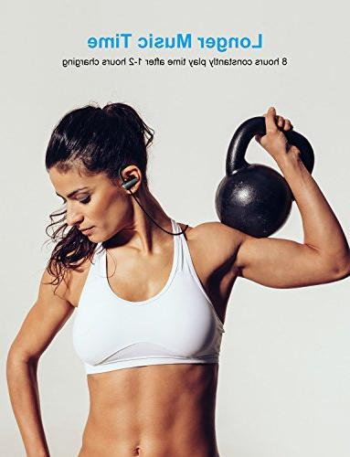 Bluetooth Wireless Headphones, IPX7 Waterproof Sports 8 Hours Stereo Noise In Gym Running Workout, Hiking etc.