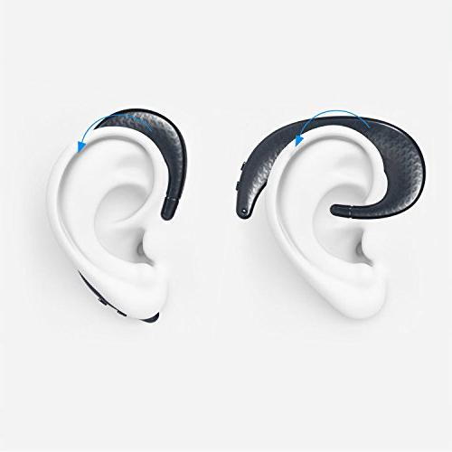 KOBWA Bluetooth Wireless Headphones with Non in Ear Noise Earbuds, 7 iPhone and Android Smart Phones