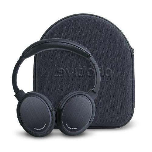 Photive BTH3 Over-The-Ear Bluetooth Built-in Mic and Battery. Case.