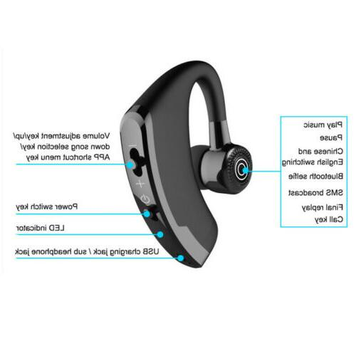 Business Wireless with Microphone Earbud