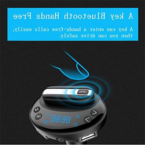 Car Bluetooth Headset, Headphones With Mic, Multifunction AUX the Transmitter Phone