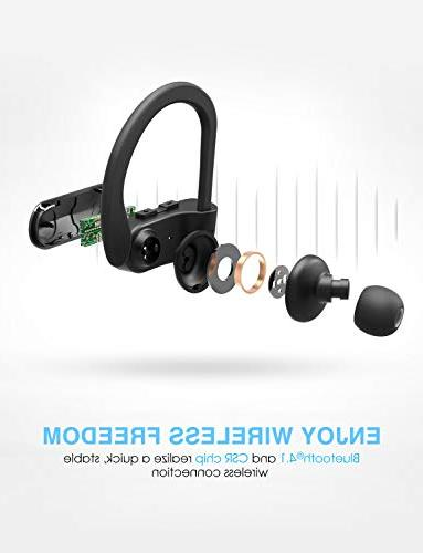Mpow Bluetooth Headphones, IPX7 Real HD Sound Sports w/Mic, Cancelling for Running, Jogging,
