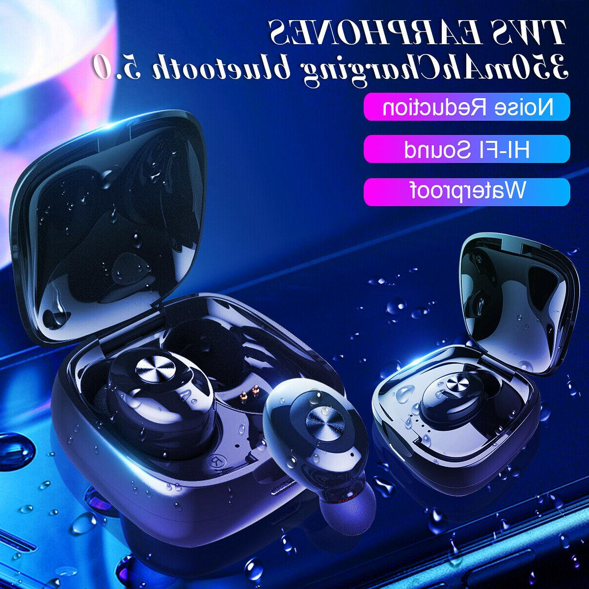 Dual Wireless bluetooth Earphone Earbuds Android IOS Universal ☆ % c