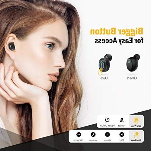 Mpow 6-Hrs Mini USB Cordless Bluetooth for Single Earbud