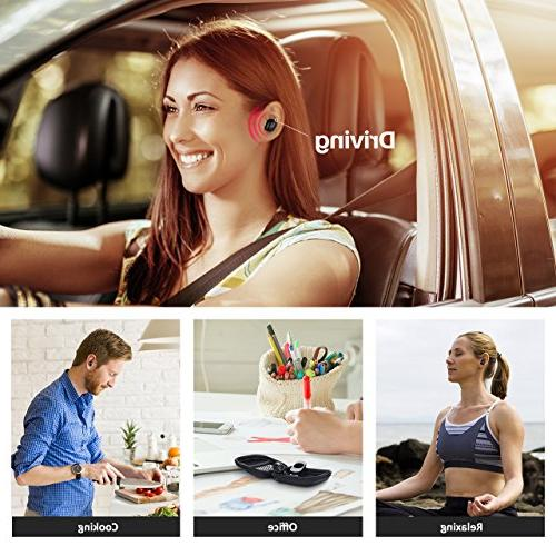 Mpow Bluetooth Earpiece, V4.1 w/Volume Control Playtime Bluetooth Earbud, Invisible Noise Cell