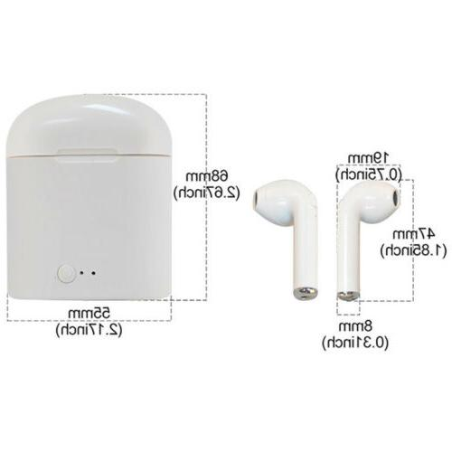 i7S TWS Bluetooth Earbuds Microphone Hand Call Universal