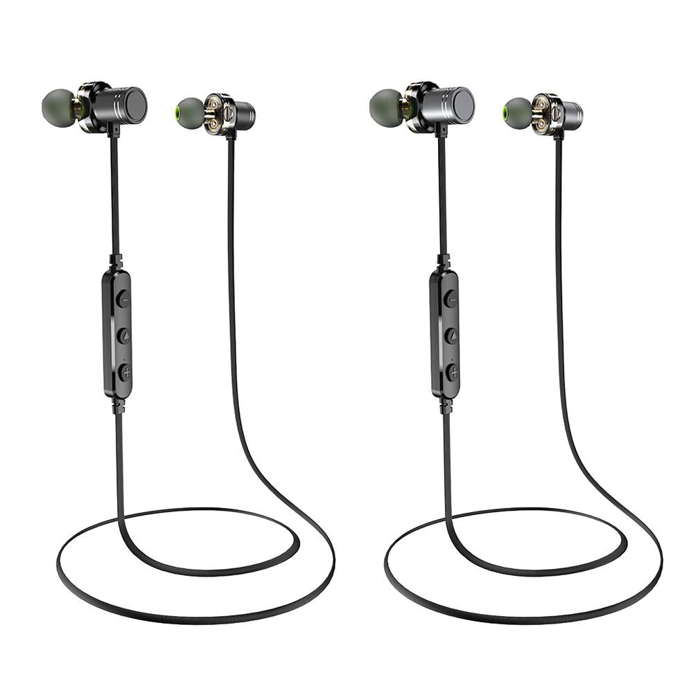<font><b>AWEI</b></font> Dual Wireless <font><b>Bluetooth</b></font> IPX4 Mic Stereo