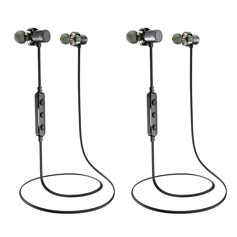 <font><b>AWEI</b></font> <font><b>Bluetooth</b></font> Headset Dual Driver <font><b>Bluetooth</b></font> Earphones IPX4 Mic Stereo