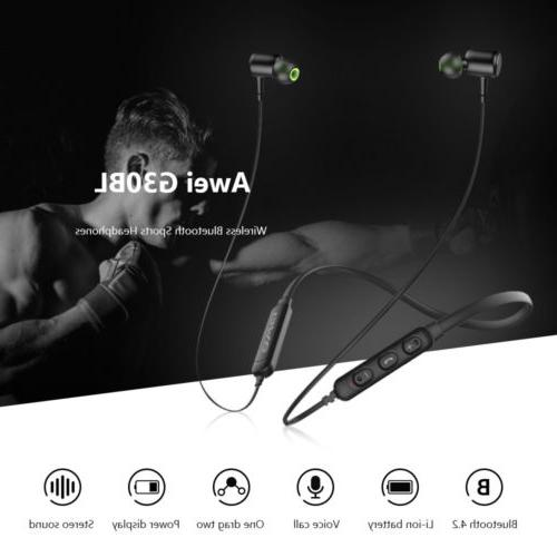 Awei Wireless Headphones Neckband Microphone