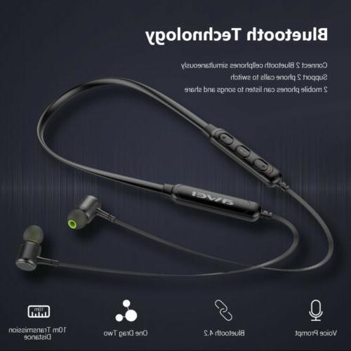 g30bl wireless bluetooth headphones neckband earbuds built