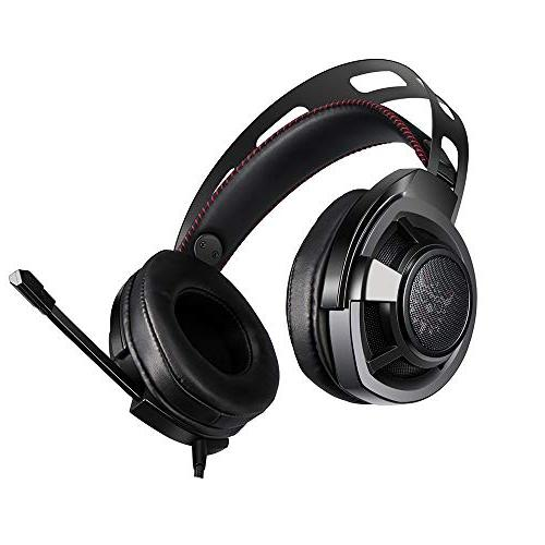 HUIGE Gaming Headphone Headband with Noise Mic & PC,PS4, Mac, Laptop, Phones