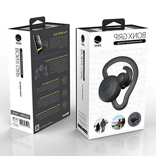 BONX Grip Noise Earbud and Microphone BLACK