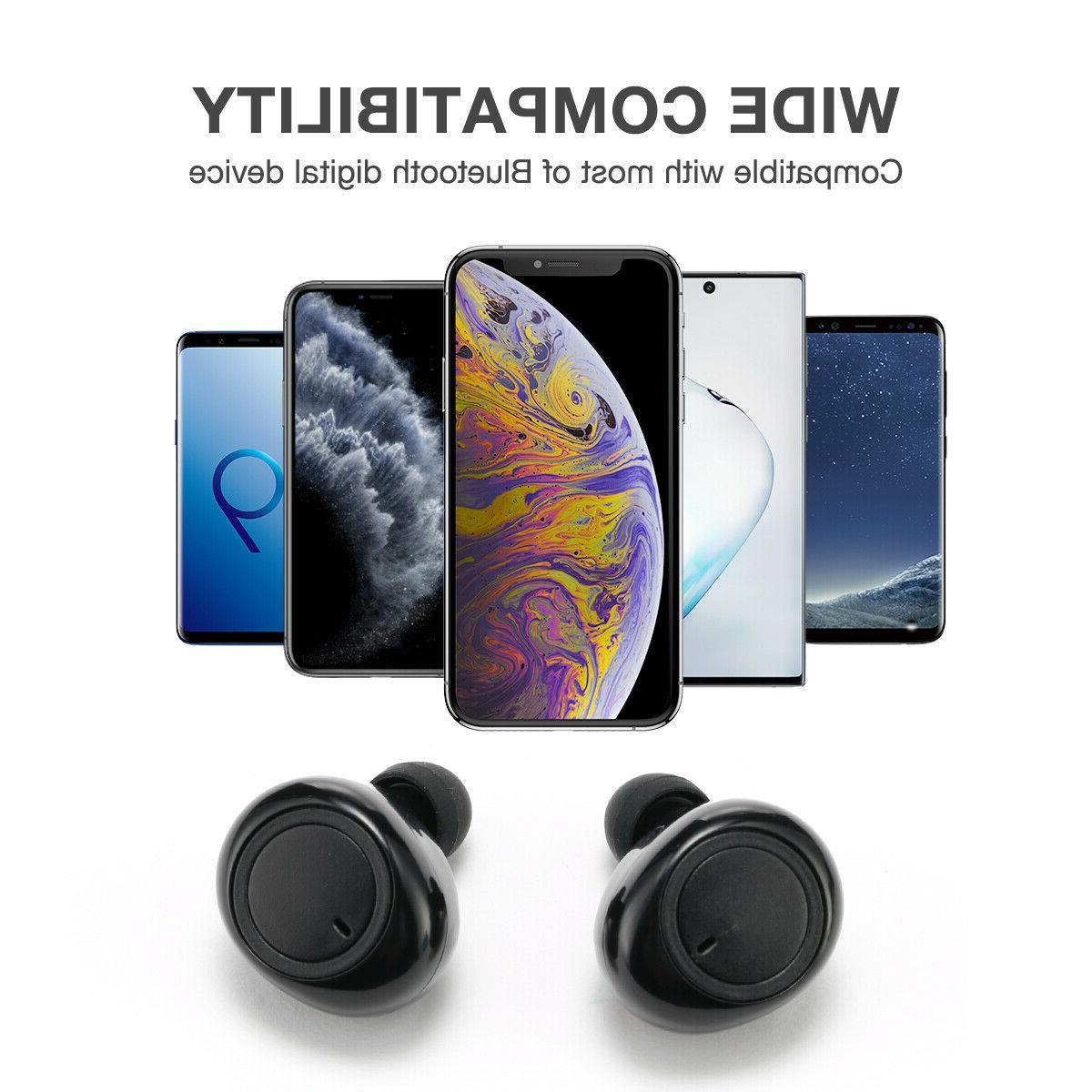 Wireless Bluetooth 5.0 Earbuds for iPhone IOS Android Universal