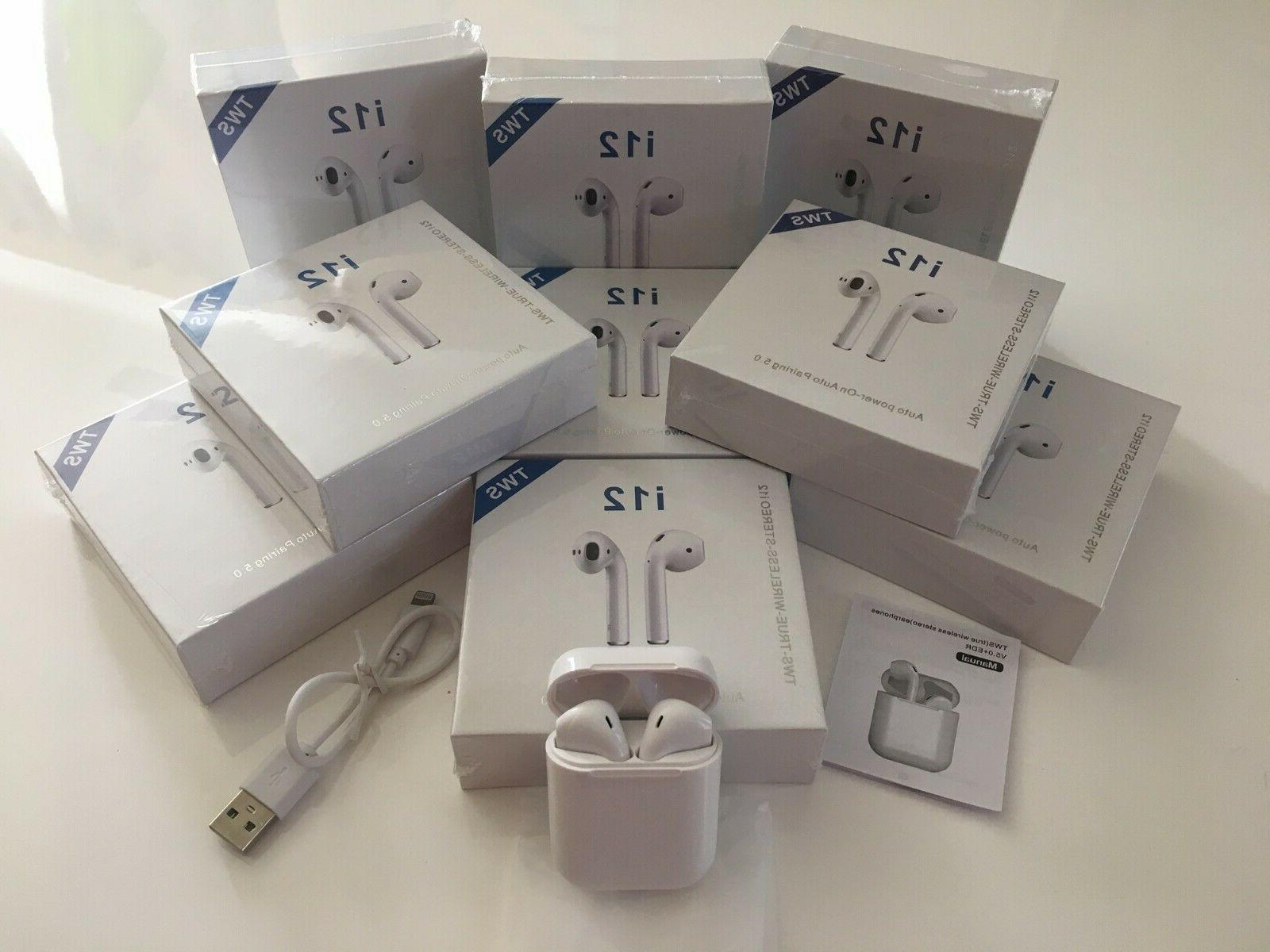 i12 tws airpods style earbuds bluetooth 5