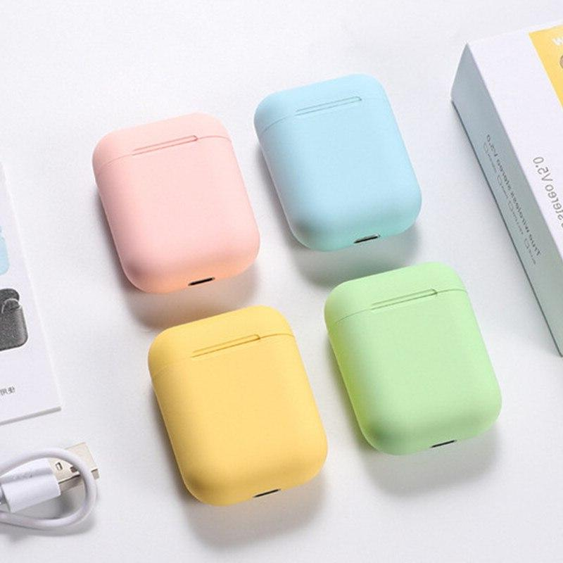 i12 tws Frosted Earphone Wireless free Business Earpieces Headset all Smartphones