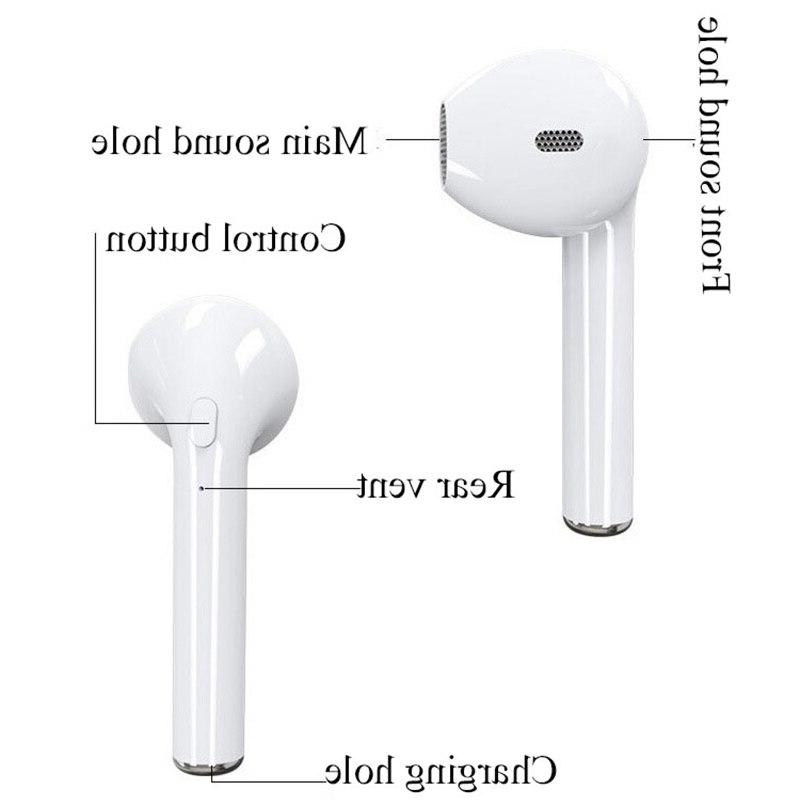 i7s <font><b>Bluetooth</b></font> Sport Handsfree Headphone With Charging for iPhone <font><b>Earbuds</b></font>
