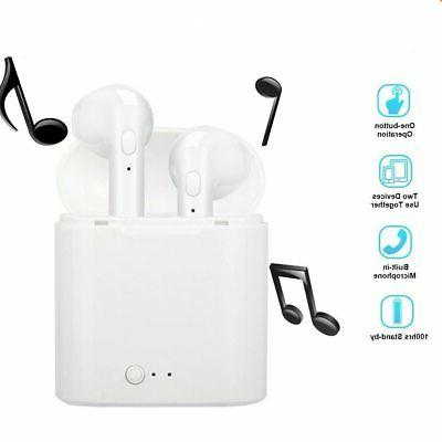 i7S TWS Wireless Earphones Bluetooth Earbuds Portable Headphones