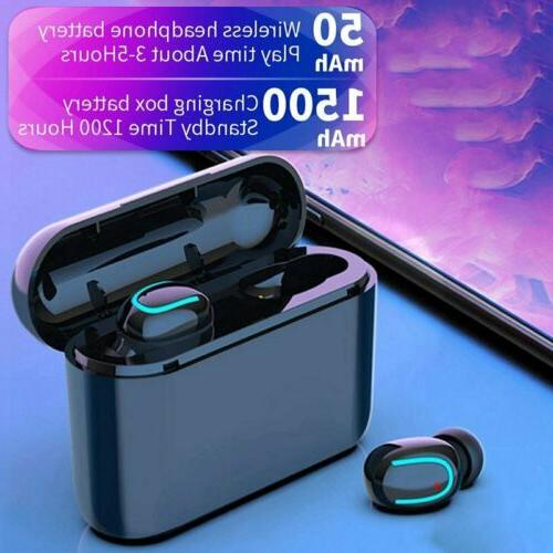Mini Bluetooth Earbuds Wireless Headset Stereo Headphones HiFi Sound